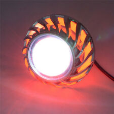 LED Projector High Low Beam Headlight For Motorcycle Angel Eyes+Devil Eye RED