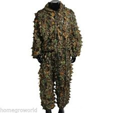 3D Bionic Leaf Camouflage Hunting Ghillie Suit Set Woodland Birdwatching Poncho