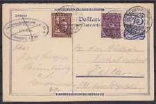 DR P 147 A Ganzsache ZuF 180, 181, Naumburg - Kahla 1922, geprüft Infla