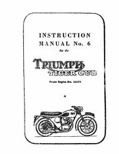 Triumph Workshop Manual 1957 Tiger Cub