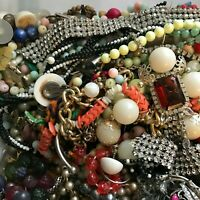 Vintage Jewelry Large Lot 6 lbs Pounds Broken Junk Craft Harvest Parts
