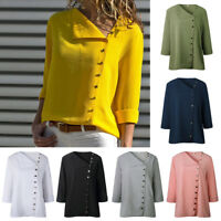 Fashion Womens Ladies Summer Long Sleeve Loose T-Shirt Casual Blouse Shirt Tops