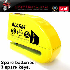 NCS Disc Lock ALARM - Motorcycles & Motorbikes Yellow Jaws. New Key. Carry pouch