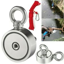 Fishing Magnet 400 Lbs Pull Force Heavy Duty Strong Neodyminm Magnet With10m Rope