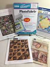 🔴🔵 Crafter's Images Photofabric 5pg Cotton Poplin +4 Projects Cheryl Malkowski