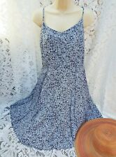 OLD NAVY USA  Ditsy Daisy Print Strappy Slip Sun Dress Navy & White Size XL 16
