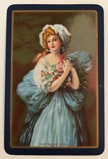 Vintage Swap/Playing Card - BLUE GIRL - MINT CONDITION