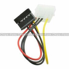 2Pcs Male Female 4 Pin Power Drive Adapter Cable to Molex IDE SATA 15-Pin CF