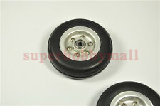 "3.5""/89mm Rubber wheel w/aluminium Hub & adapter For RC Airplane/plane model"