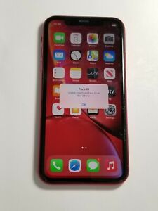 Apple iPhone XR- A1984-64GB-Red-T-Mobile unlocked-Face Id/cam Not Working - 08AP