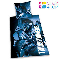 TRANSFORMERS SINGLE DUVET SET COVER QUILT BEDDING REVERSIBLE KIDS CHILDREN NEW