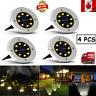 8 LED Outdoor Solar Garden Lights Waterproof Lamp  Flat Garden Lawn Deck Path CA