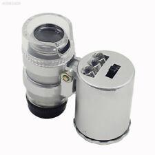 6C86 Portable 60X LED Light Microscope Magnifying Glass Lens Ultraviolet Lamp