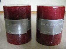 """Home Interiors-""""Baked Apple Pie Pillar Candle"""". New in Box"""