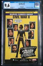 Civil War II #0 Agents Of SHIELD Greg Land Variant ASM #121 Homage CGC 9.6