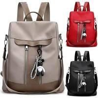 Women PU Leather Anti-Theft Bear Shoulder Satchel Casual Backpack Rucksack Bags