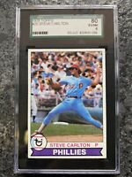 1979 Topps Steve Carlton Philadelphia Phillies #25 Baseball Card SGC 80
