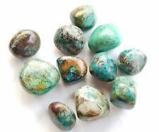 Large tumbled Malachite CHRYSOCOLLA blue green mineral gemstone Crystal (5 pcs)