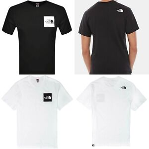 Mens The North Face T Shirt Black White Tee Round Neck