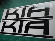 KIA panel skirt car vinyl sticker decal x2