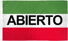 Abierto Flag 3x5 Red White Green Abierto Banner Sign Open Flag Espanol Flag