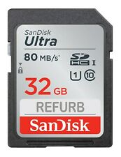 SanDisk 32GB Ultra Class 10 UHS-I SD 80MBs SDHC / SDXC memory card LOT 5 10