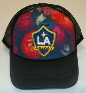 MLS Los Angeles Galaxy Mesh Snapback Adidas Hat - Girls Size 7-16 years - New