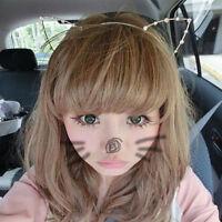 Women Cat Ears Faux Rhinestones Alloy Headband Fashion Girls Hair Band Cute hn