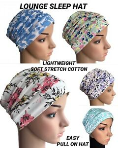 HEADWEAR FOR HAIR LOSS, EASY COMFY LOUNGE DAY HAT, CHEMO, ALOPECIA, CANCER