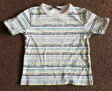 George 18-24 Months Striped Multi Coloured T-shirt With Short Sleeves