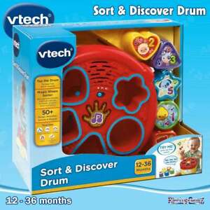 vTech Baby Sort & Discover Drum - Shapes Numbers and Animals - Sound & Music