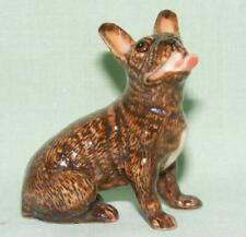 Klima Miniature Porcelain Animal French Bulldog Sitting Facing Left Brown K664