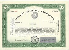 LIVESTOCK FINANCIAL CORPORATION......1964 COMMON STOCK CERTIFICATE