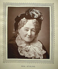 6 small Woodbury (photo) prints of famous Victorian actresses, 1880/3