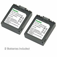 2x Kastar Battery for Panasonic Lumix S002 DMC-FZ5 DMC-FZ10 DMC-FZ15 DMC-FZ20