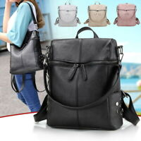Women Soft Leather Shoulder Bags Travel Large Capacity Backpack Messenger Tote