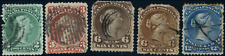 Canada #24/28 used Faults 1868 Queen Victoria Large Queen Part Set CV$250.00