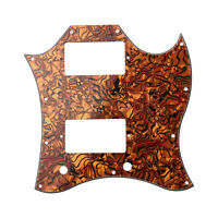 Full Face Electric Guitar Pickguard for SG Standard Tiger Stripe 3 Ply