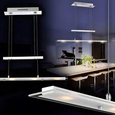 LED Hängeleuchte Design Pendelleuchte Chrom Hängelampe Lampe Glas Pendellampe