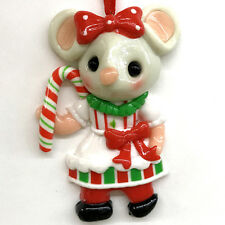 New listing Candy Cane Girl Mouse Christmas Ornament Candy Shop Fake Food Mice