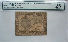 1777 Continental Currency $7 Baltimore Issue, PMG graded VF25, NICE NOTE!!!