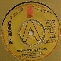 "THE TRAMMPS TRUSTING HEART 7"" PROMO PHILADELPHIA UK 1975 NR MINT PRO CLEANED"