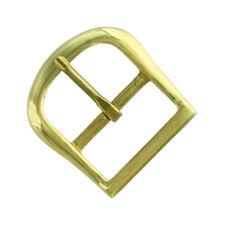 Solid Brass Buckle Polished Brass Finish Center Bar Buckle multi size for Belt