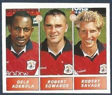 PANINI FOOTBALL LEAGUE 1996- #386-CREWE-D ADEBOLA / R EDWARDS / R SAVAGE-ROOKIE