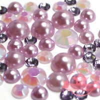10mm Cream resin faux round Shiny Pearls Flatback Mix Size Cabochon 200 pcs 2mm