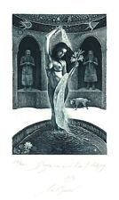 Ex Libris Bookplate Exlibris Etching by Marin Gruev - Bulgaria