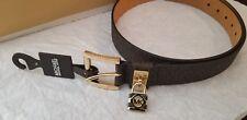 NEW! Michael Kors Signature MK Logo Hamilton Women synthetic Leather Belt 553305