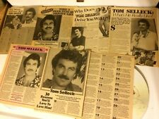 Tom Selleck, Lot of SIX Full and Two Page Vintage Clippings