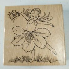 Stampendous ~ W148 Fairy Dance Child Rubber Stamp ~ A3