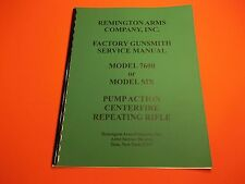 DETAILED GUNSMITH MANUAL REMINGTON 7600  MD SIX RIFLE, nicely illustrated